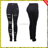 Women jean suits for women denim wash pants skinny fiting up sexy design jeans pants china