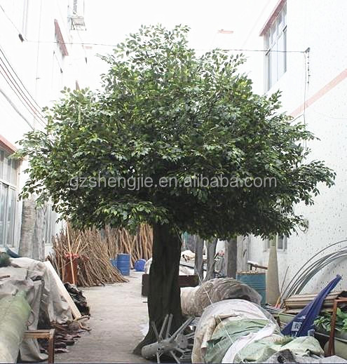 SJZZY915 guangzhou artificial big ficus tree ,fake decorative banyan tree
