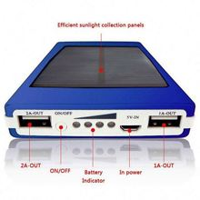 Portable Dual USB Solar Charger 10000mah Mobile Phone Power Bank