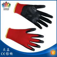 Household nitrile flcoklined gloves / Chemical Resistant Green Nitrile Gloves For Wholesale