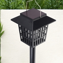 Popular Solar Power efficient LED bug zapper Convenient Mosquito insect outdoor killer Lamp