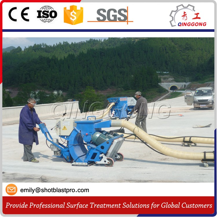 Mobile Shot Blaster Road Marking Removing Shot Blasting Machine
