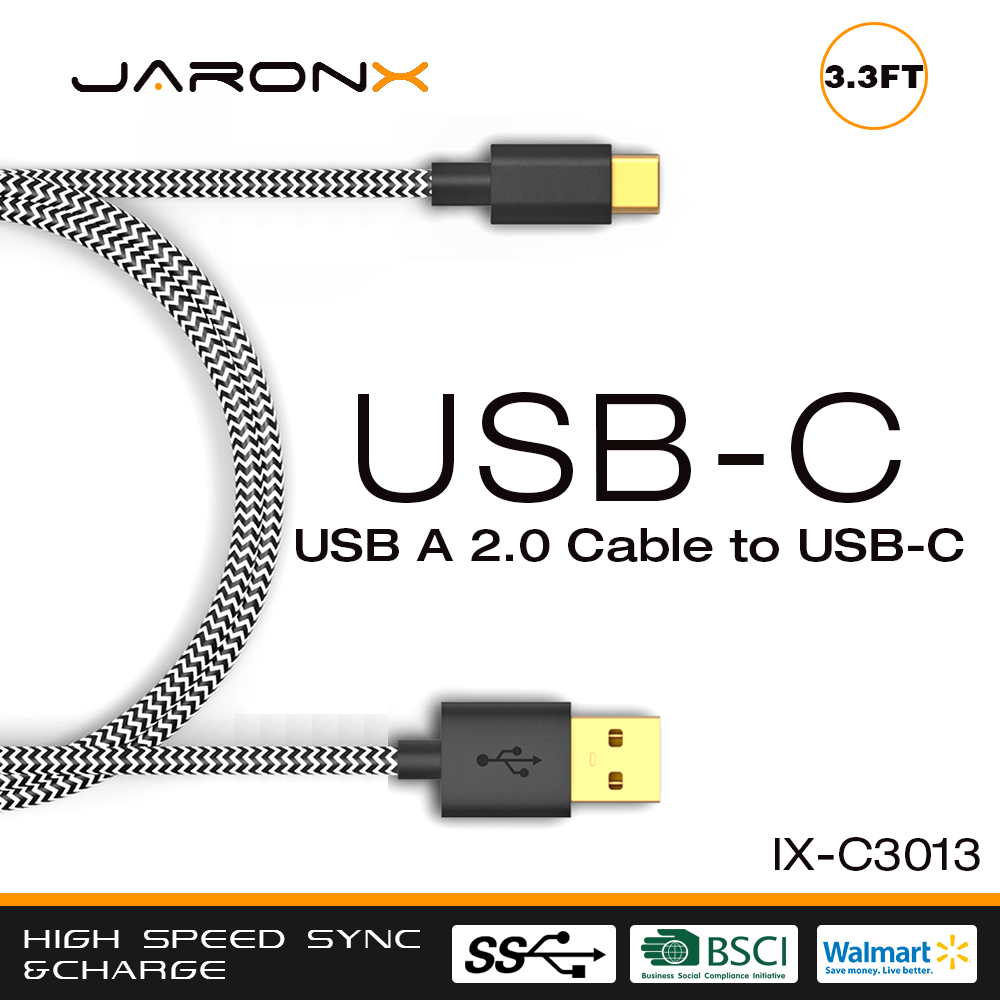 Great Quality usb Type-C to USB-A male Cable Type-C Charger Connector Cable