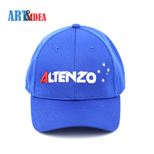 New design fashion royal blue 100 polyester mens womens sports cap hats