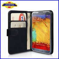 2013 New Arrival 100% Perfect Fit Note 3 Leather Case Wallet Case for Samsung Galaxy Note 3 Cover Laudtec