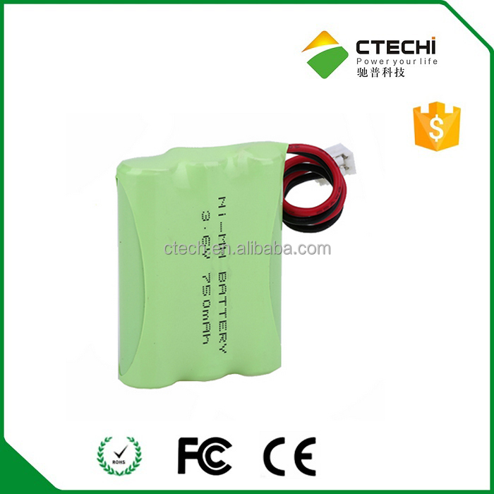 3.6V rechargeable battery NIMH 750mAh AAA battery pack for 2-way radio