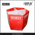 Point of purchase corrugated cardboard dump bin display box for supermarket