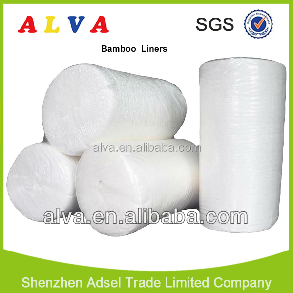 Hot Sale Alva Disposable Bamboo Flushable Diaper Liners Paper Liner