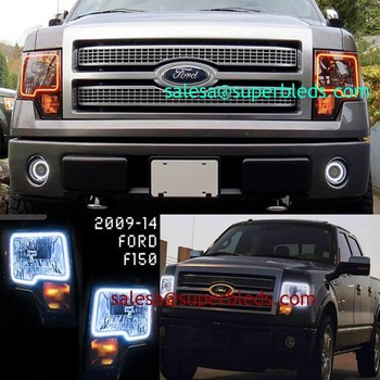 SMD5050 RGB color changing led halo ring angel eye kits for Ford F150