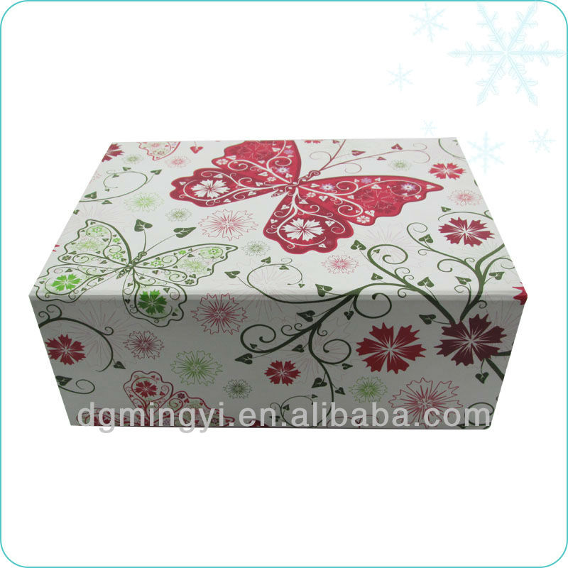 butterfly cardboard folded paper box