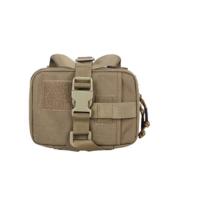 Tactical Med Pouch Rip Away EMT Pouch Molle IFAK Medical Kit Bag with Red Cross