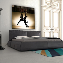 Man play basketball home decorate pop canvas art wall painting in hot sale