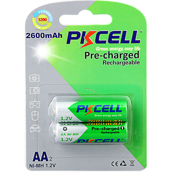 PKCELL Recycle Use Rechargeable Battery 1.2v nimh aa 600mAh Batteries for Camera