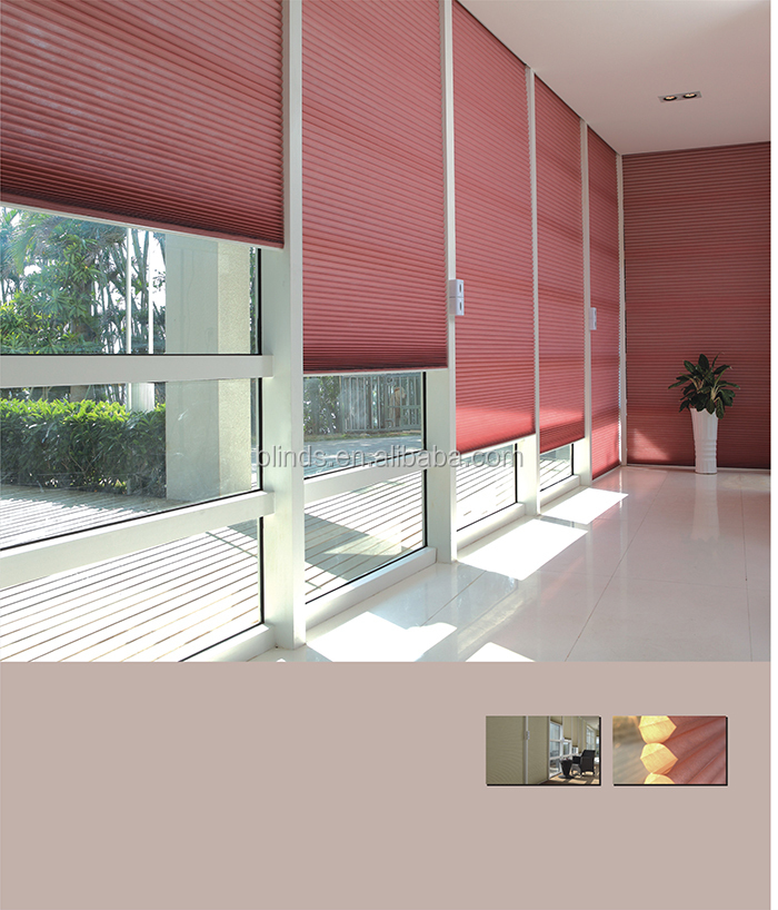 Curtain designs home decoration honeycomb blinds office for Office window design