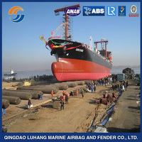 Marine launching/moving/lifting inflatable floating rubber airbag