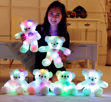 38cm LED Night Light Luminous Teddy Bear Cute Shining BearPlush Toys Baby Toys Birthday Gifts Valentines stuffed animal