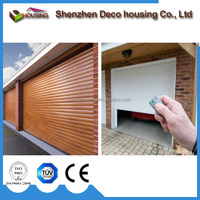 Automatic security aluminum wooden roller shutters