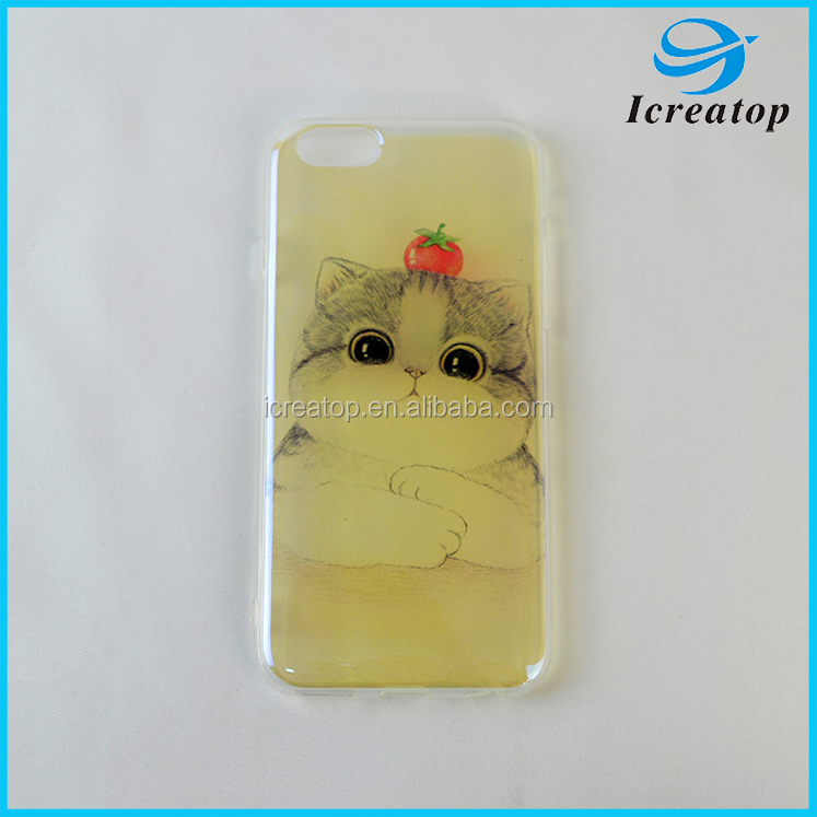 New design custom cartoon phone case for iphone 6, TPU phone shell cover for iphone 6 cute phone case