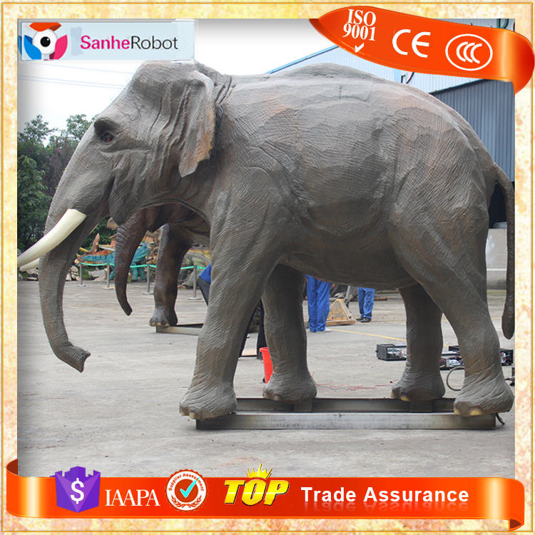 SH-RA023 Animatronic Life Size Baby Elephant Sculptures For Sale