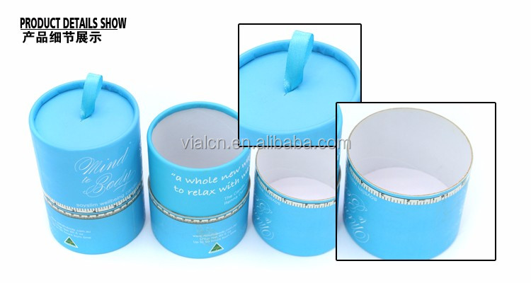 OEM unique luxury candle paper tube wrapping cardboard paper tube packaging for candle