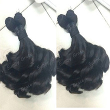 6a Brazilian aunty fumi hair wholesale natural color 100% curly human hair extension