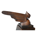Modern Copper indoor decoration unique metal eagle sculpture