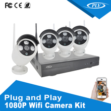 Outdoor Wireless Wifi 1080P CCTV HD 2 Megapixles IP Camera 4ch NVR Kits CCTV waterproof security wireless camera system