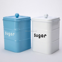 Metal suger canister /coffee/tea/candy/cookies storage jar with powder coated