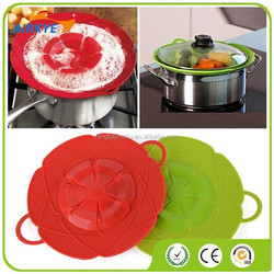 Cooking Untensils Overflow Stop Silicone lid Spill Stopper Silicone Cover Lid