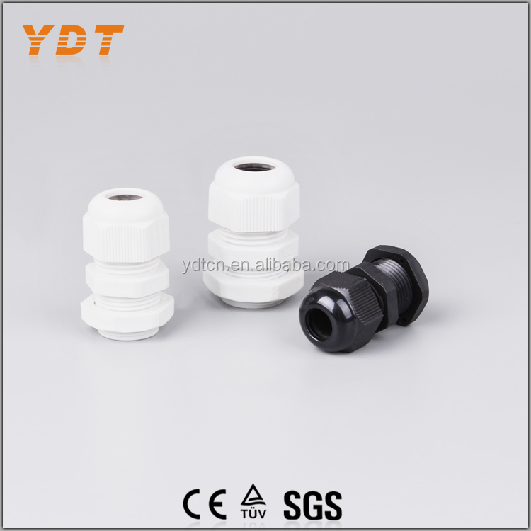 O.E.M/O.D.M. YDT waterproof M12 thread nylon plastic cable gland joint