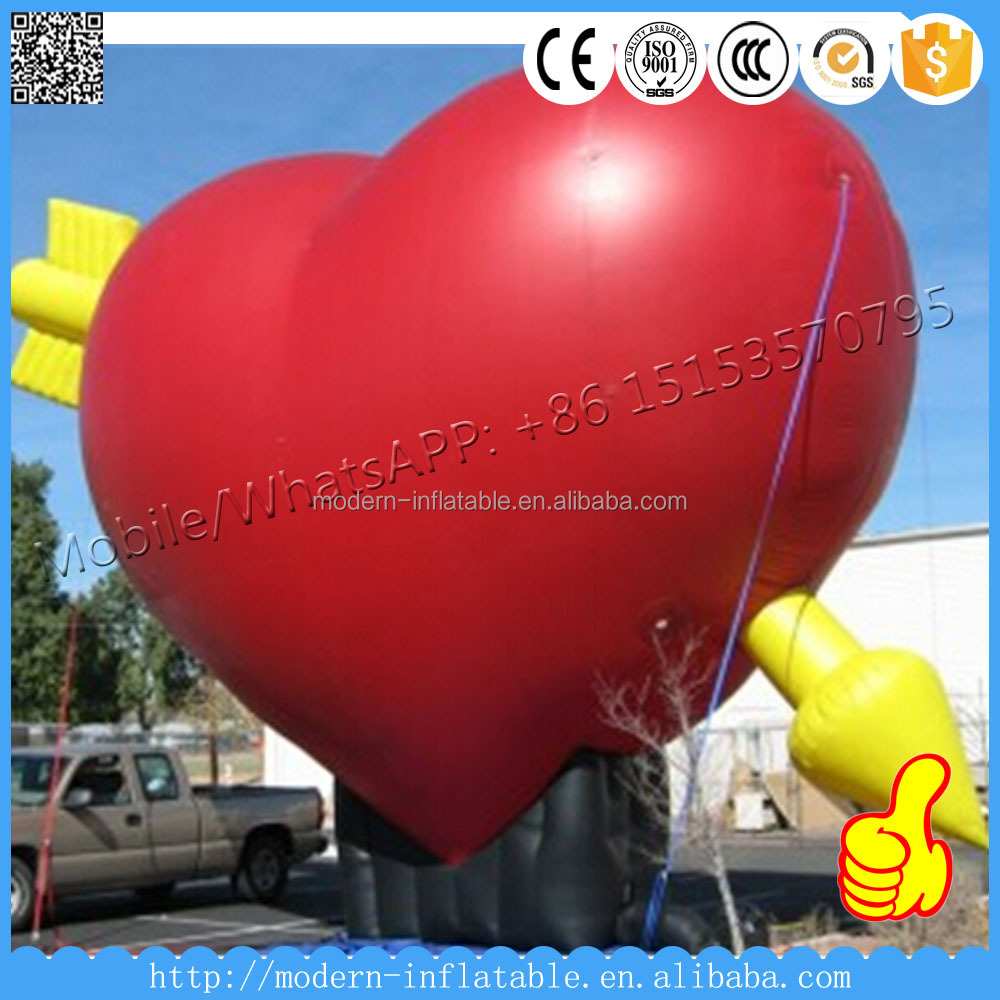 Inflatable Giant Red Heart With Led