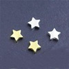 custom 925 sterling silver star shape logo engraving spacer metal beads for jewelry diy making