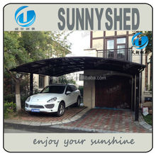 modern design aluminum double carports/garage M style with pc carbonate roof