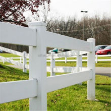 best quality White Plastic White 3 Lane UPVC Paddock fence