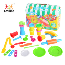 Sales enjoy cooking fun spaghetti pizza kitchen toy rubber clay for kids