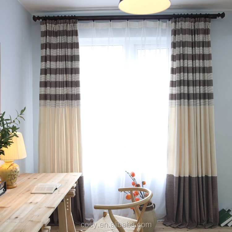 Professional Manufacture Cheap yarn dyed blackout curtain for hotel