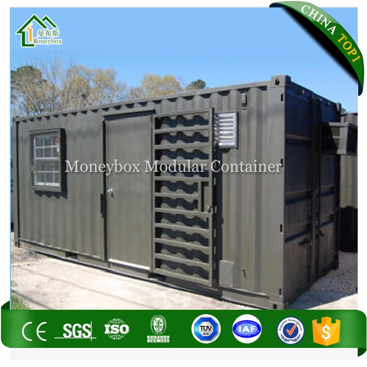 Moneybox 20ft 40ft steel military camp container flat pack container house used for military