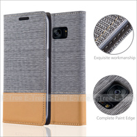 Magnetic Wallet Jean PU Leather Case Soft Tpu Case Inside Cover For Samsung galaxy S7 edge