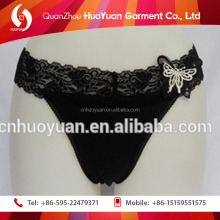 The most seductive plus size beautiful fancy underwear women panty of cotton elasti Huoyuan factory