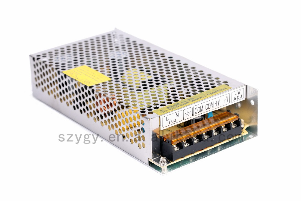 Metal box switching power supply 12V 10A with CE UL certification