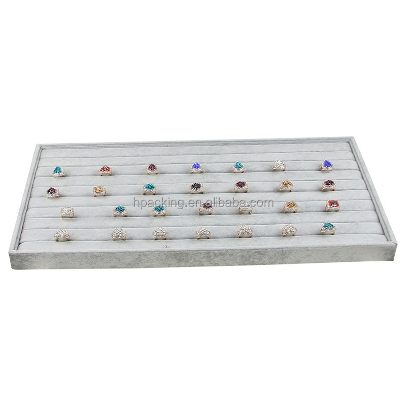 Velvet Ring Display Disk Ring Jewelry Display Case