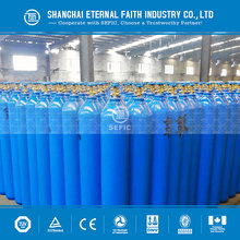 Big Portable Hot Sell 40L Capacity Empty Argon / Nitrogen / Oxygen / N2O / Hydrogen / Helium Gas Cylinder