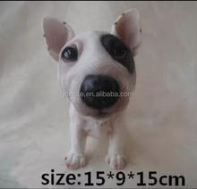 Sitting Bull Terrier statues,Puppy Dog Figures Series home ornaments,funny resin dog statues
