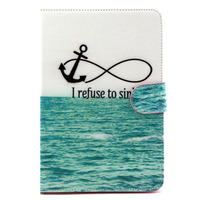 Colored-drawing leather flip stand cover for ipad mini , custom your case for ipad mini