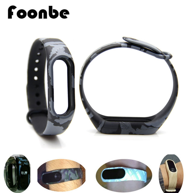 1pcs Wristband  for Xiaomi 2 Flower Camouflage for Miband 2 Smart Wristband for Mi band 2 Bracelet  Band