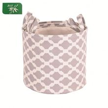 Multi-Functional Twill Fabric Bathroom Cabinet Storage Basket with Handle