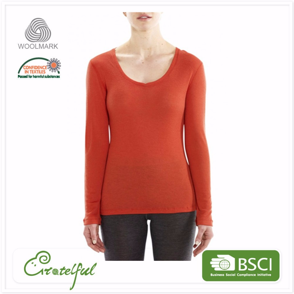 long sleeve breathable wholesale merino wool thermal long johns