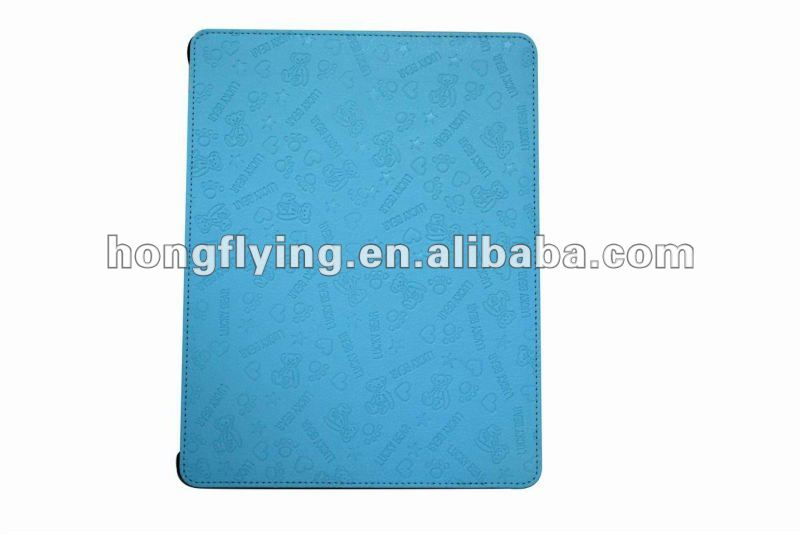 Four Folder Smart Cover Leather Case for ipad2/ipad3