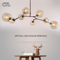 Hand Blown Clear Glass Hanging Pendant Lights Hotel Hall Large Modern Glass Chandelier