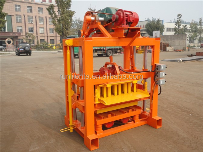 QTJ4-40 paving block making machine automatic cement hollow interlocking bricks machine